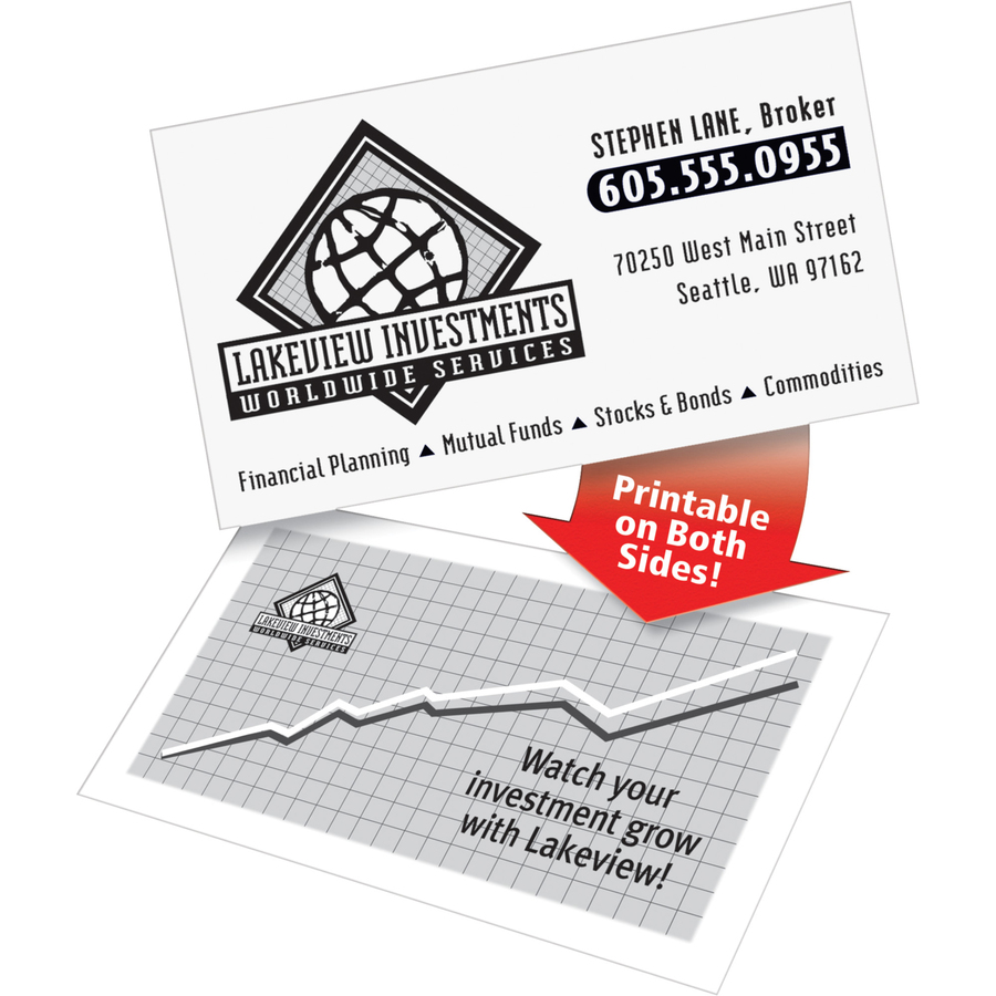 avery clean edge laser print business card mac papers inc