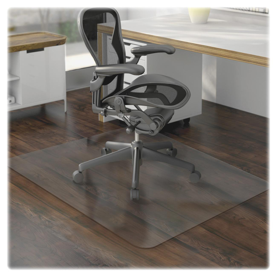 lorell hard floor 60 rectangular chairmat hard floor wood floor