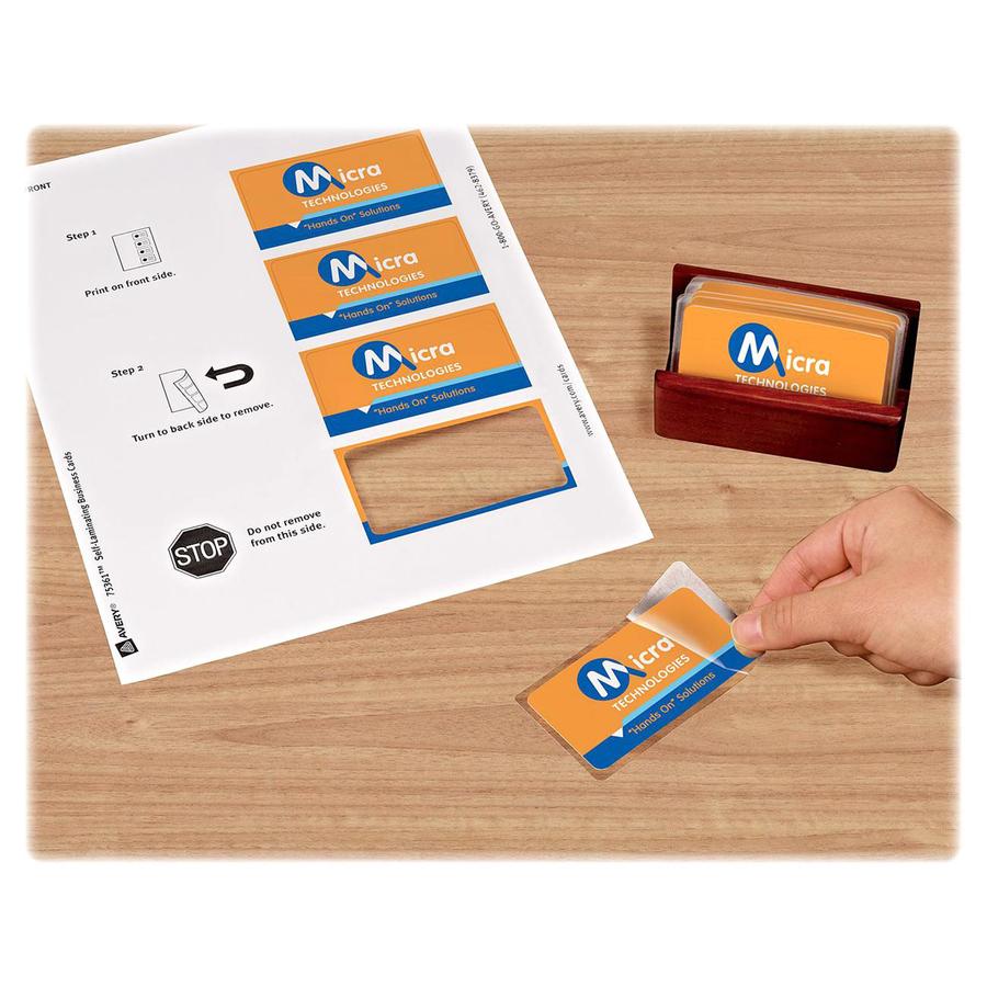 Avery Business Card Business Card - 3.50u0026quot; x 2u0026quot; - Matte, Glossy - 20 ...