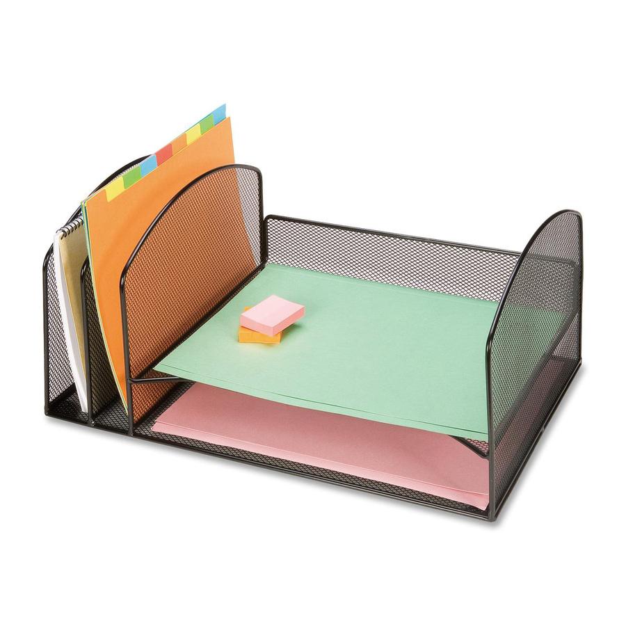 Lorell mesh desktop organizer - Desk top organizers ...