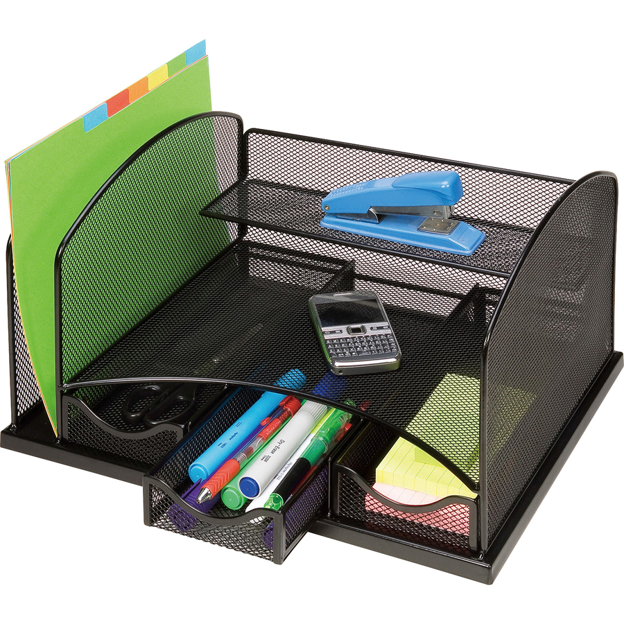 lorell mesh vertical file 3 drawer dsktp organizer office supply hut