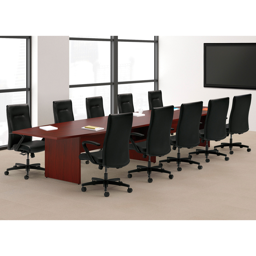 HON Preside Laminate Conference Tabletop Adder Section - Hon boat shaped conference table