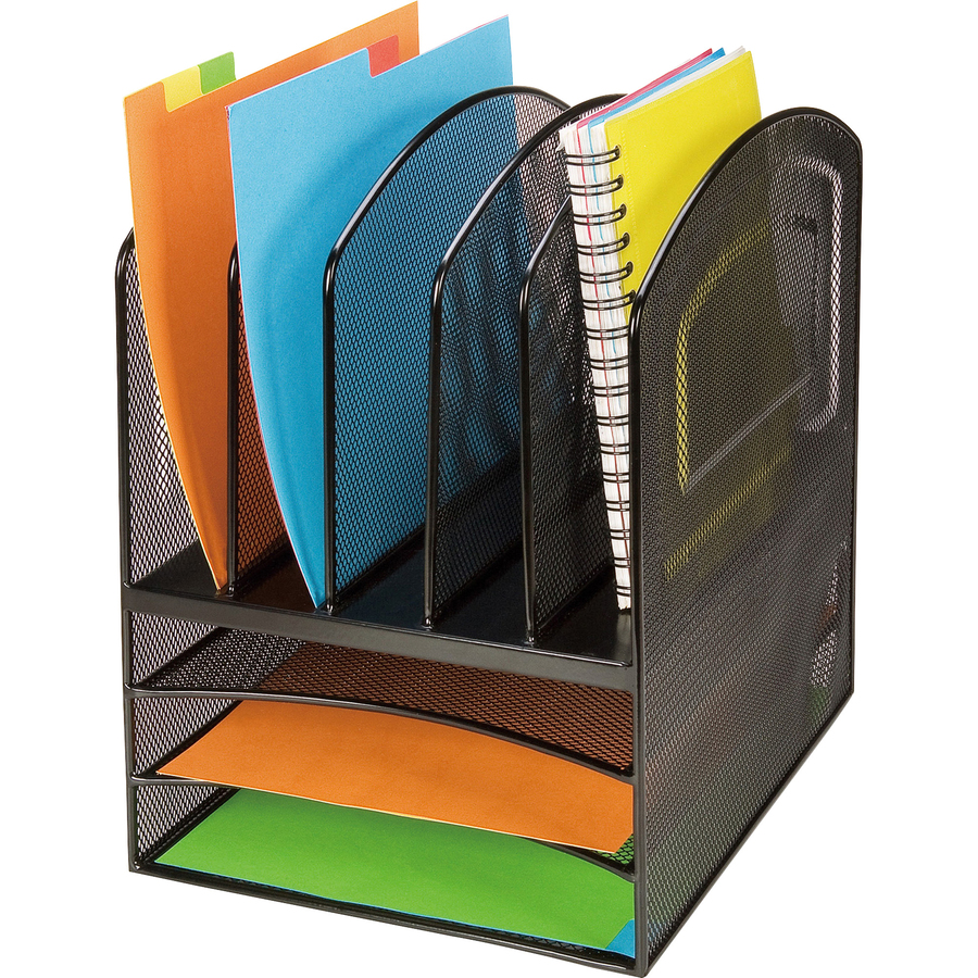 Lorell mesh horizontal vertical desktop organizer - Desk top organizers ...