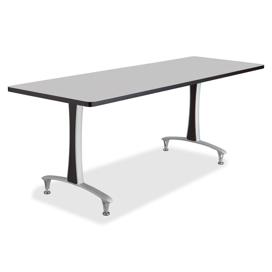 Discount saf2097grsl safco 2097grsl safco gray rumba training table w t legs glides training table - Table glides for legs ...