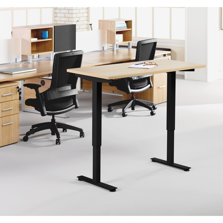 Lorell Electric Height Adj Sit Stand Desk Frame Greeno Supply