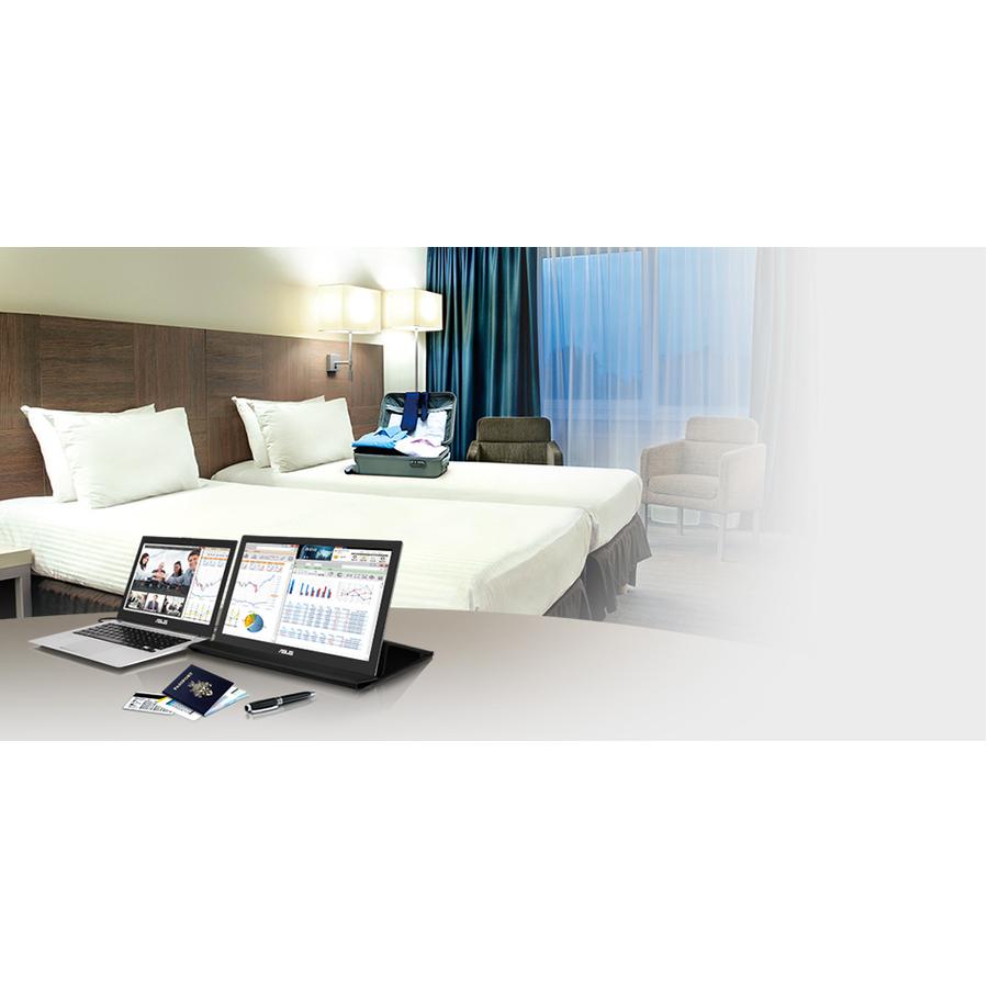 "Asus MB169B+ 15.6"" Full HD LED LCD Monitor - 16:9 - Silver, Black_subImage_2"