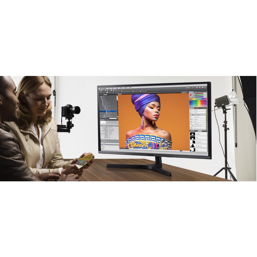 "Samsung U32H850UMN 31.5"" 4K UHD Quantum Dot LED LCD Monitor - 16:9 - Black, Silver_subImage_2"