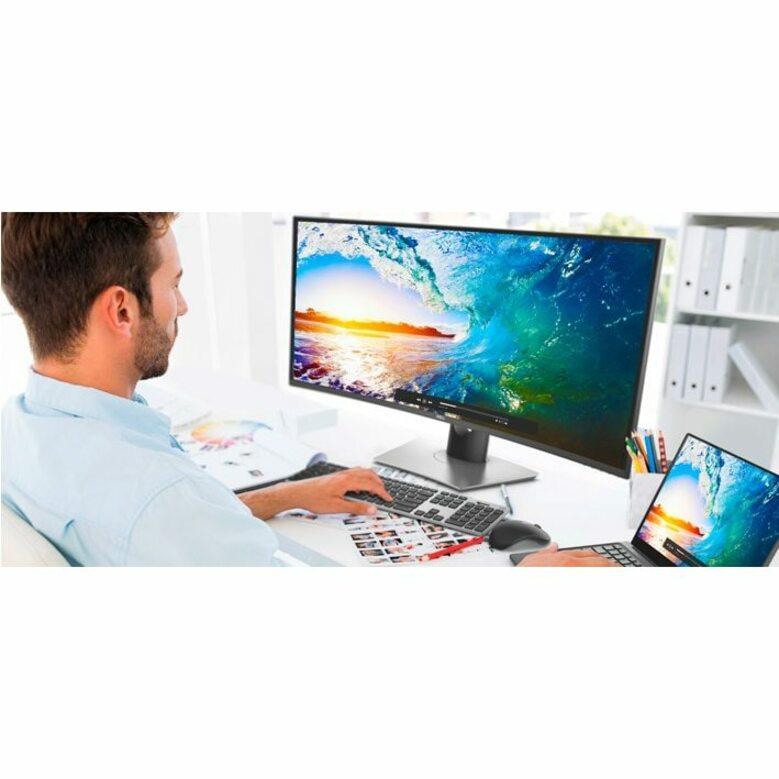 "Dell UltraSharp U3818DW 37.5"" UW-QHD+ Curved Screen Edge WLED LCD Monitor - 21:9 - Black_subImage_2"