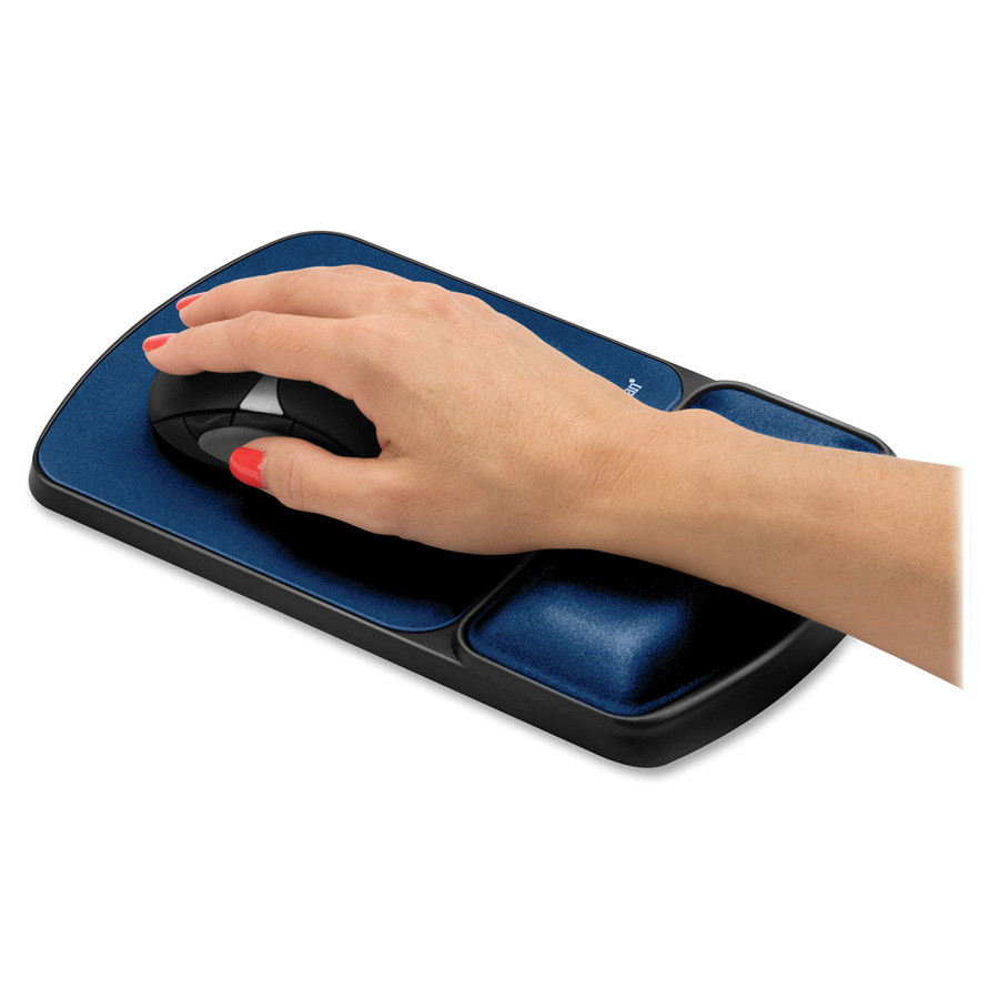 fellowes mouse pad wrist support with microban protection servmart