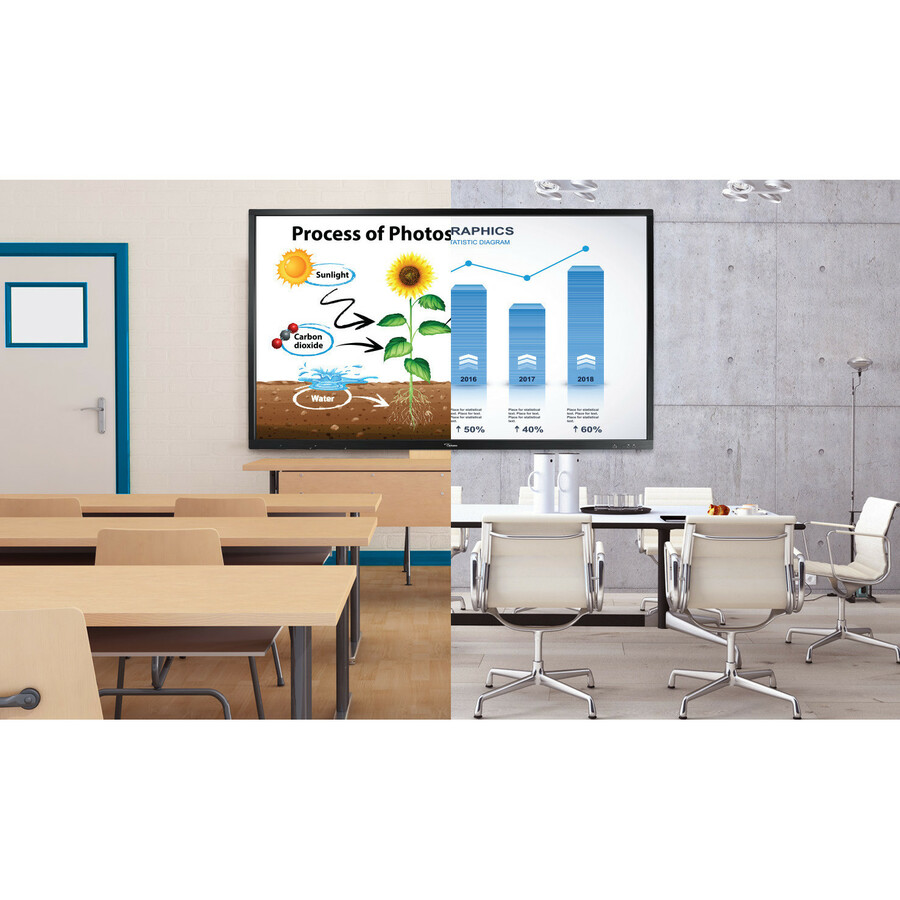 """Optoma Creative Touch OP751RK All-in-One Computer - ARM Cortex A73 - 2 GB RAM - 16 GB Flash Memory Capacity - 75"""" 3840 x 2160 Touchscreen Display - Desktop_subImage_2"""