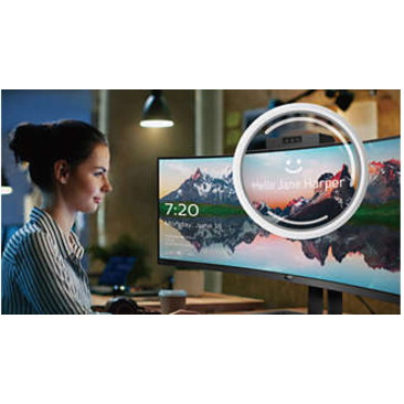 """Philips Brilliance 499P9H 48.8"""" Dual Quad HD (DQHD) Curved Screen WLED LCD Monitor - 32:9 - Textured Black_subImage_2"""