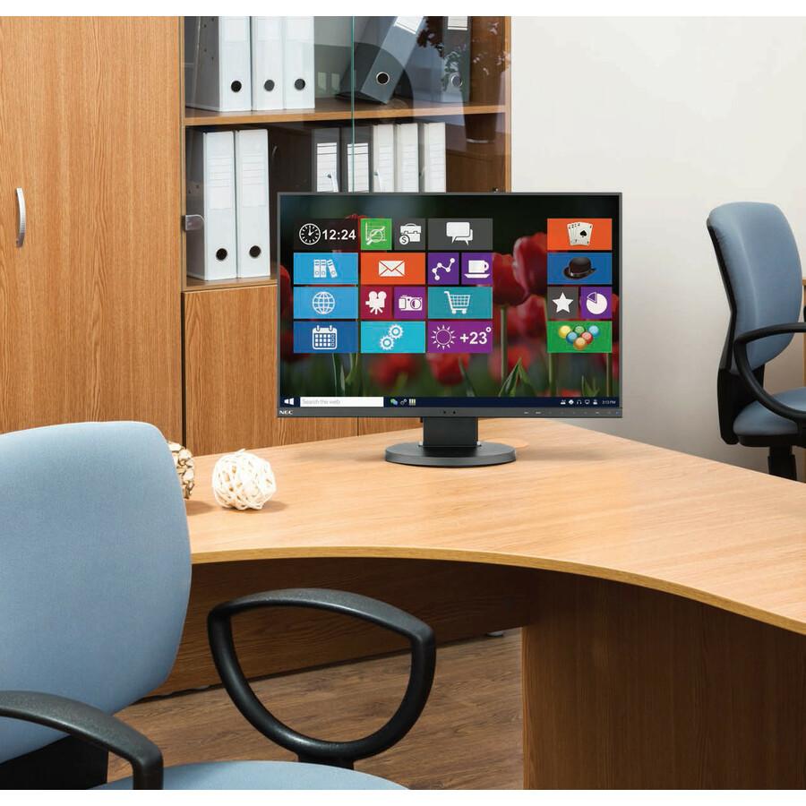 "NEC Display MultiSync EA241F-BK 23.8"" Full HD WLED LCD Monitor - 16:9 - Black_subImage_2"