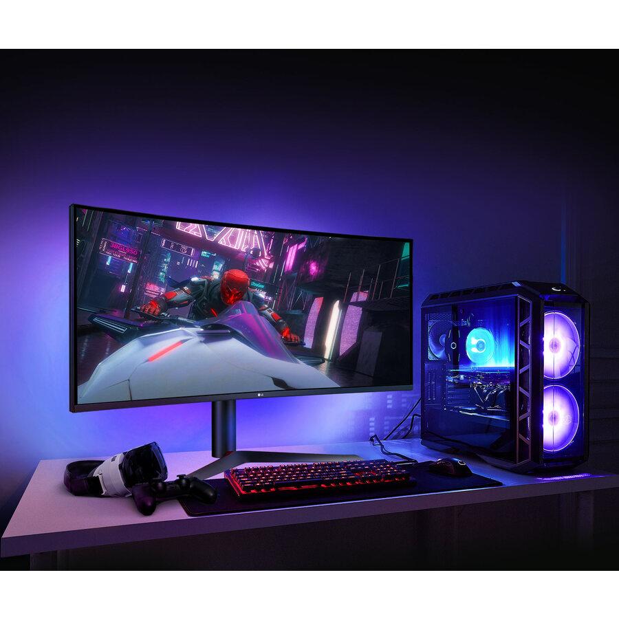 "LG UltraGear 38GN95B-B 37.5"" UW-QHD+ Curved Screen LED Gaming LCD Monitor - 21:9 - Black, White_subImage_2"