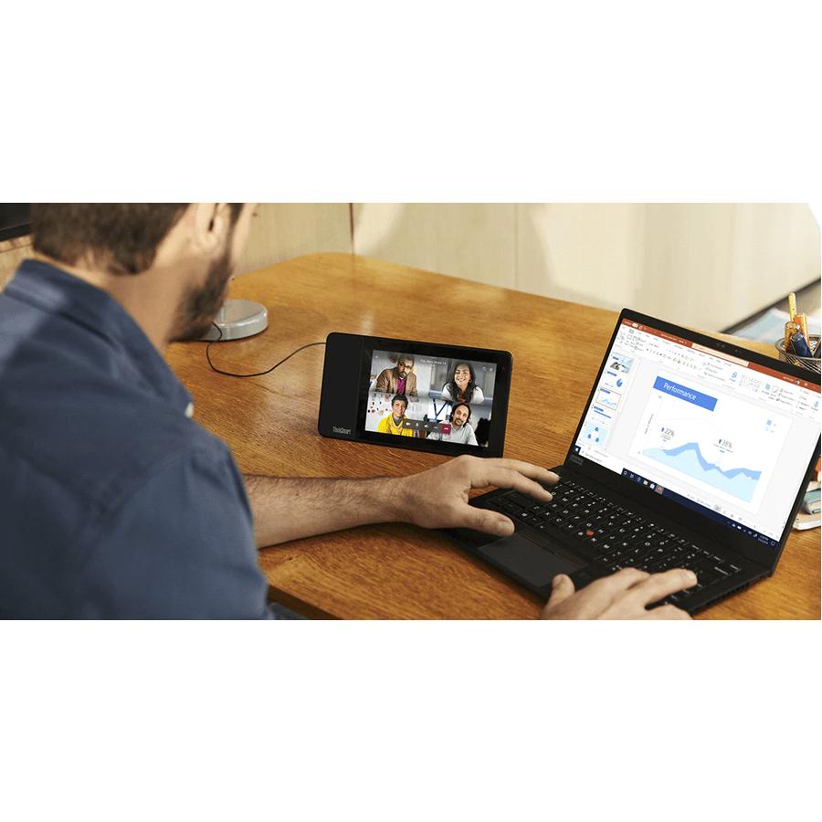 "Lenovo ThinkSmart View ZA840013US Tablet - 8"" HD - 2 GB RAM - 8 GB Storage - Android 8.1 Oreo - Business Black_subImage_2"