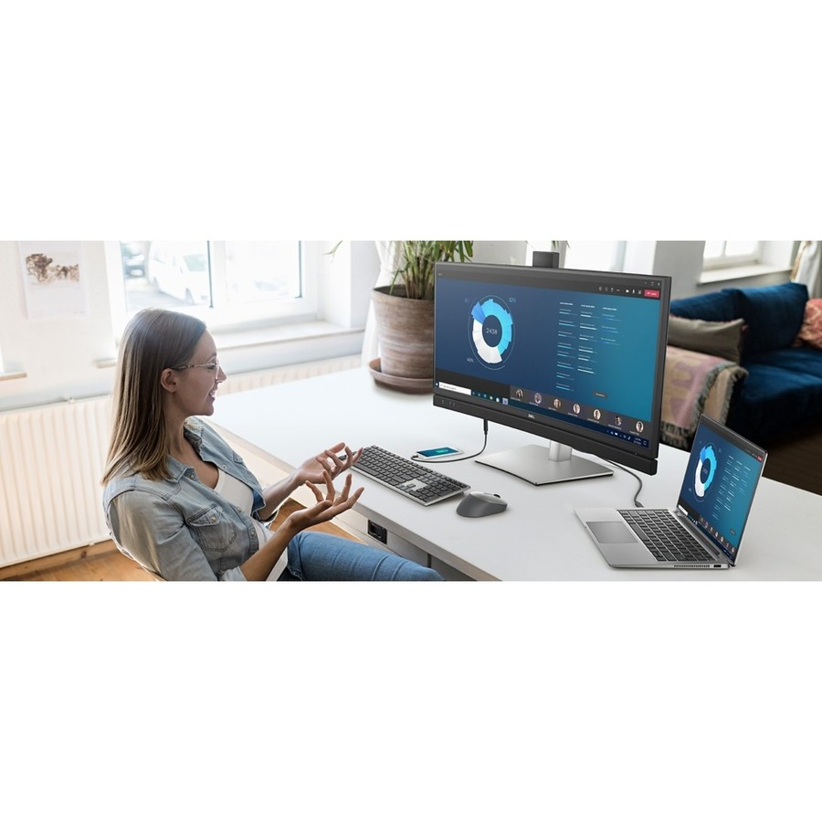 """Dell C3422WE 34.1"""" WQHD Curved Screen Edge WLED LCD Monitor - 21:9 - Platinum Silver_subImage_2"""