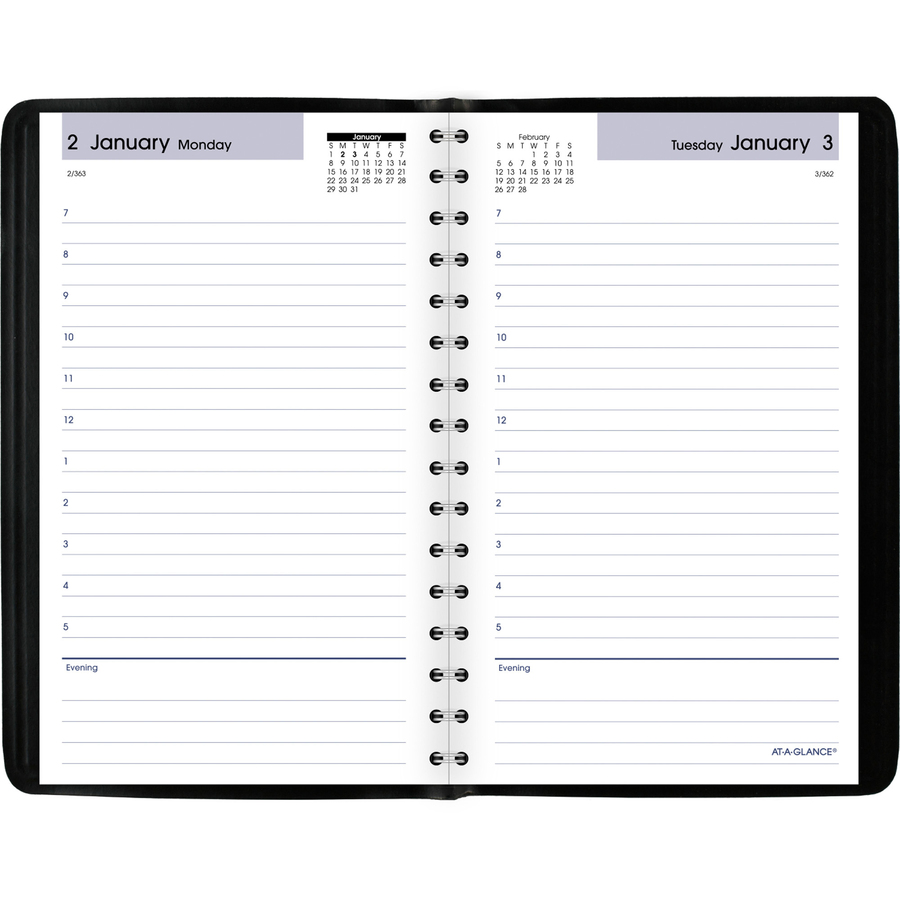 at a glance dayminder daily appointment book servmart