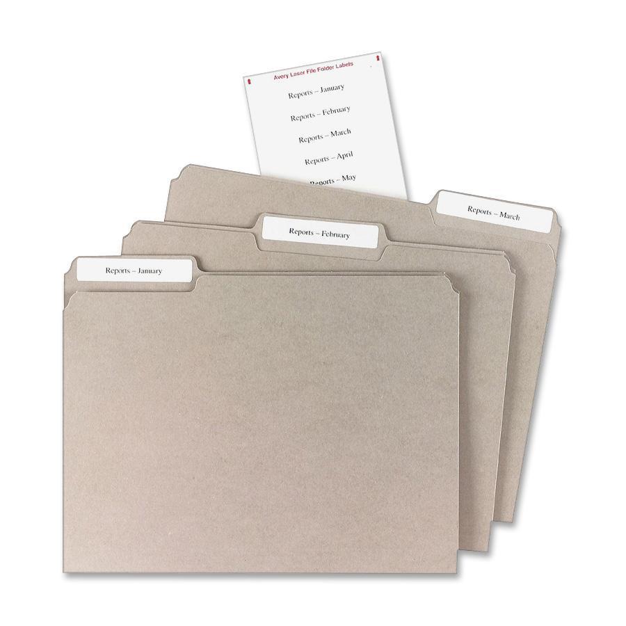 Avery Filing Mini-Sheet Label