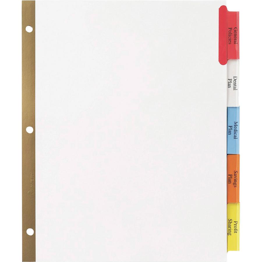 avery worksaver big tab insertable tab divider blank 8 5 x 11 24 set multicolor tab. Black Bedroom Furniture Sets. Home Design Ideas