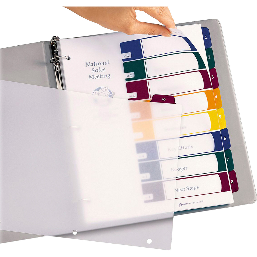 avery ready index tabs template