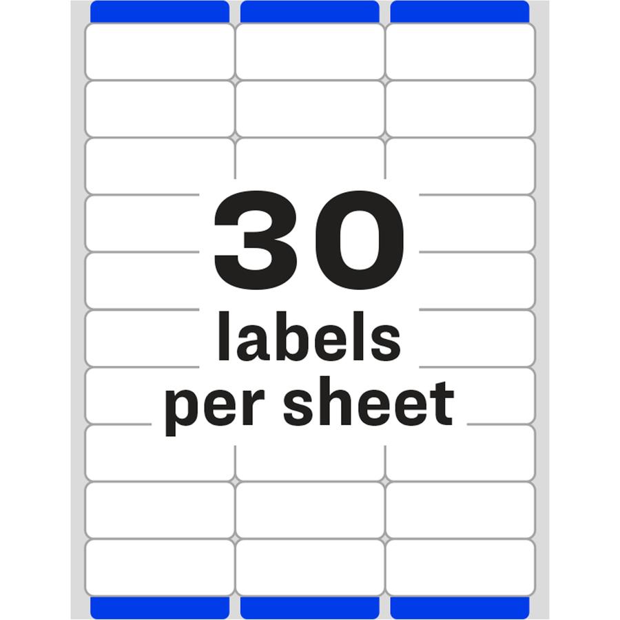 """Avery Easy Peal Address Labels 1"""" Width x 2.62"""" Length - Inkjet, Laser ..."""