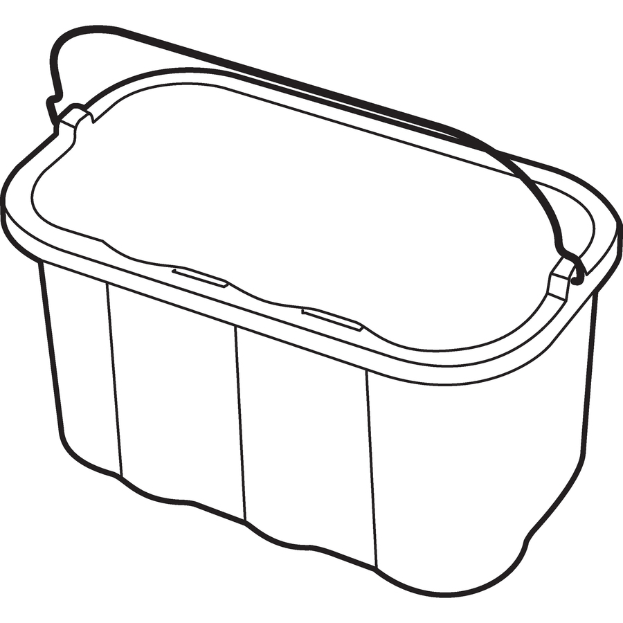 Line Drawing In Qt : Rubbermaid quart sanitizing caddy rcp t yw