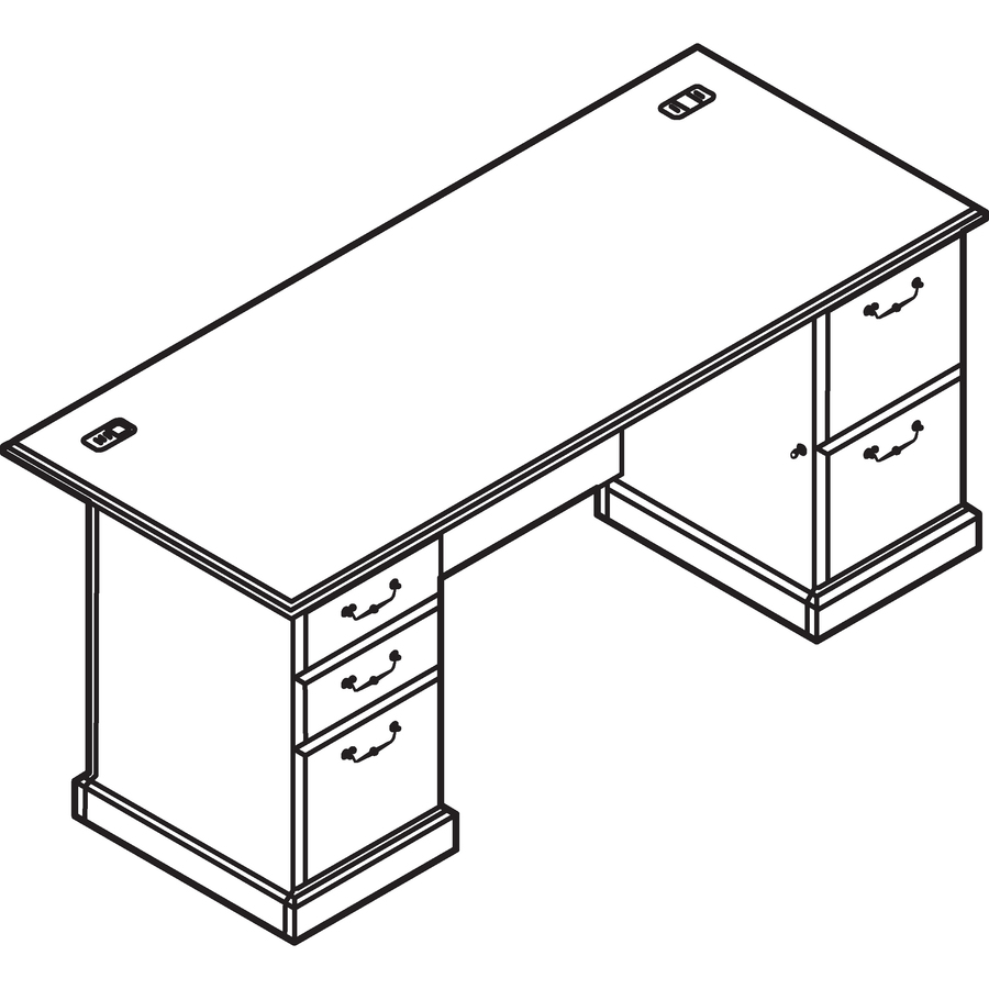 Line Art Table : Bush business furniture syndicate w double pedestal desk