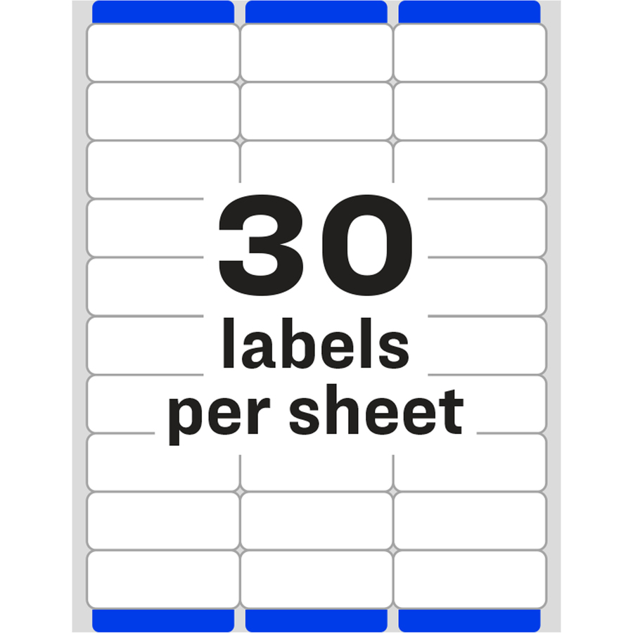 It is an image of Critical Free Printable Address Labels 30 Per Sheet