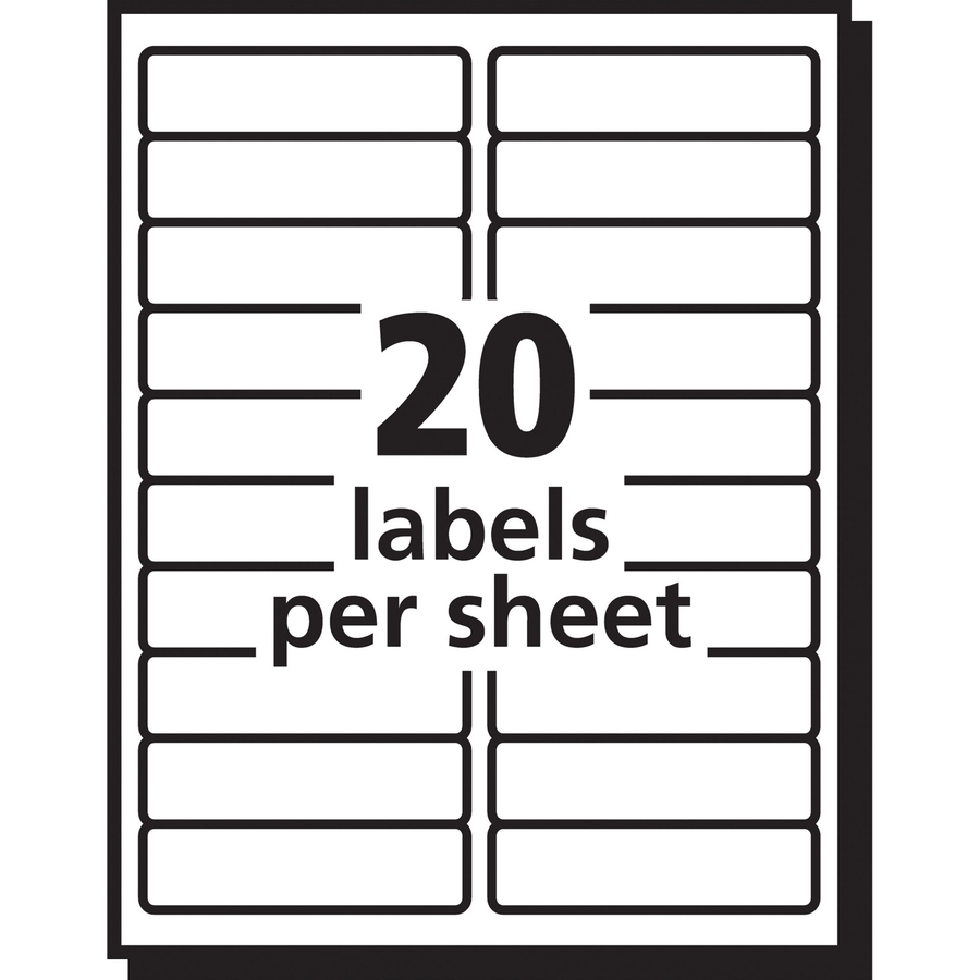 Avery easy peel mailing label ave15661 for 8 per page label template