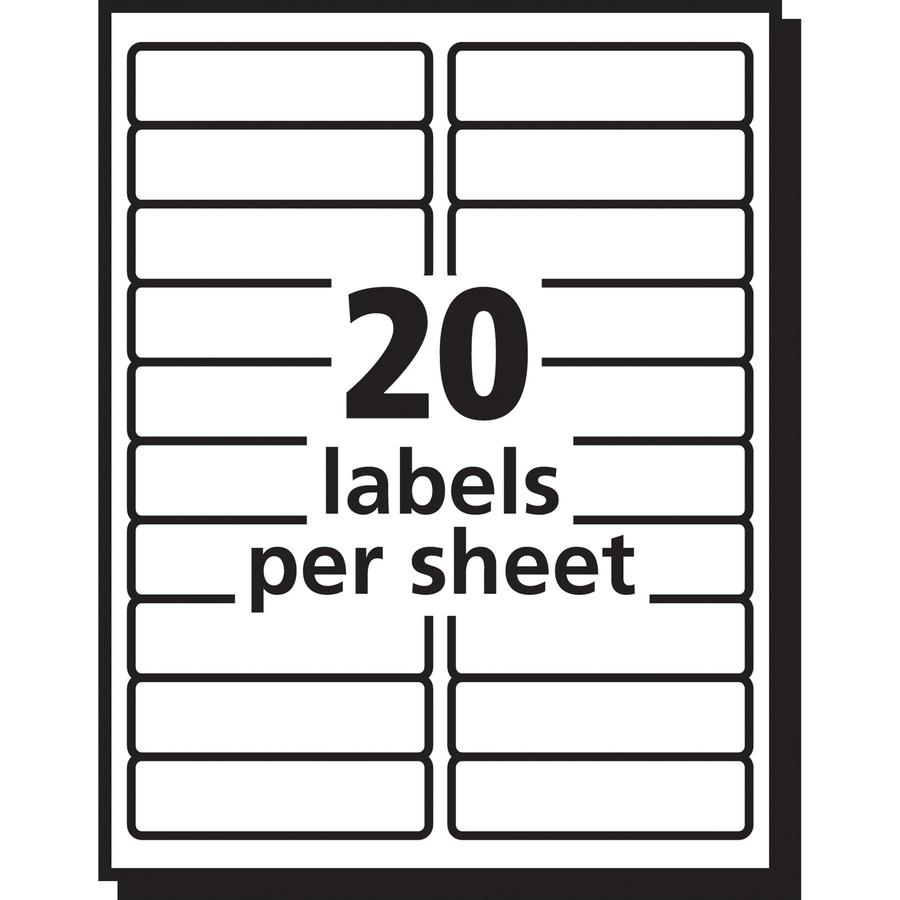 Avery Easy Peel Mailing Label Ave15661 Supplygeeks Com