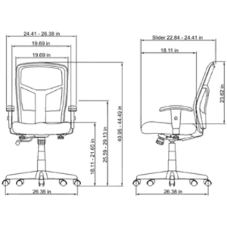 Lorell Executive High Back Swivel Chair LLR86205 · Original Life Style  Zoom Closeup Line Art ...