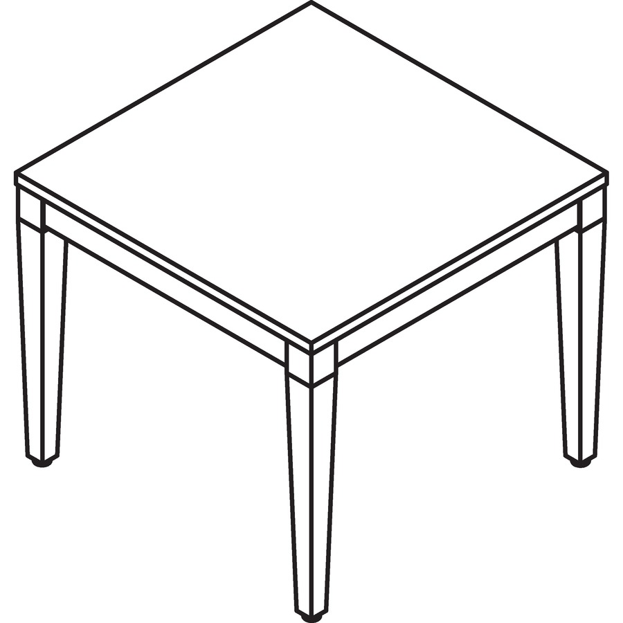 Line Art Table : Llr lorell mahogany finish solid wood corner table
