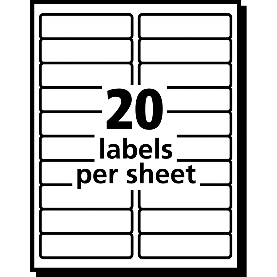 Avery 5661 avery easy peel mailing label ave5661 ave for Package address label template