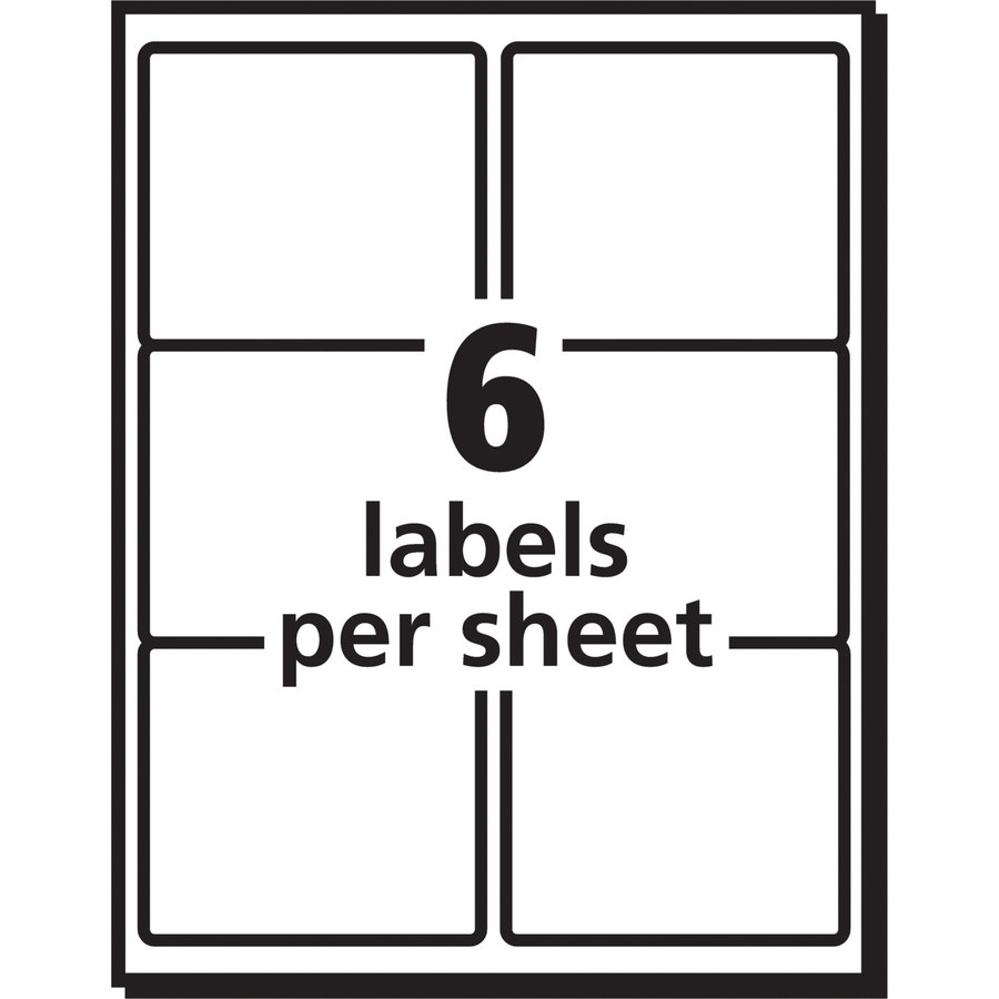 Avery Shipping Labels with TrueBlock Technology Laser 3 1//3 x 4 White 150//Pack