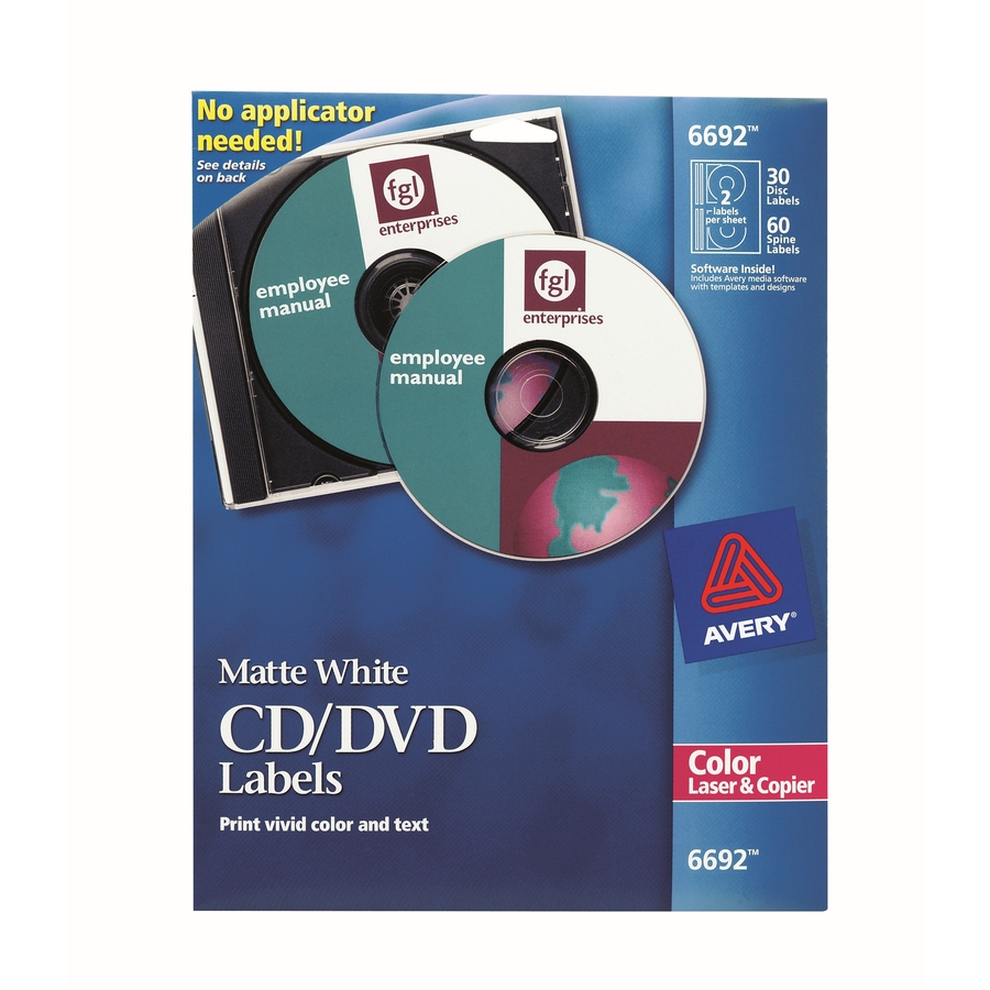 Avery cd dvd label ave6692 supplygeekscom for Avery disc labels