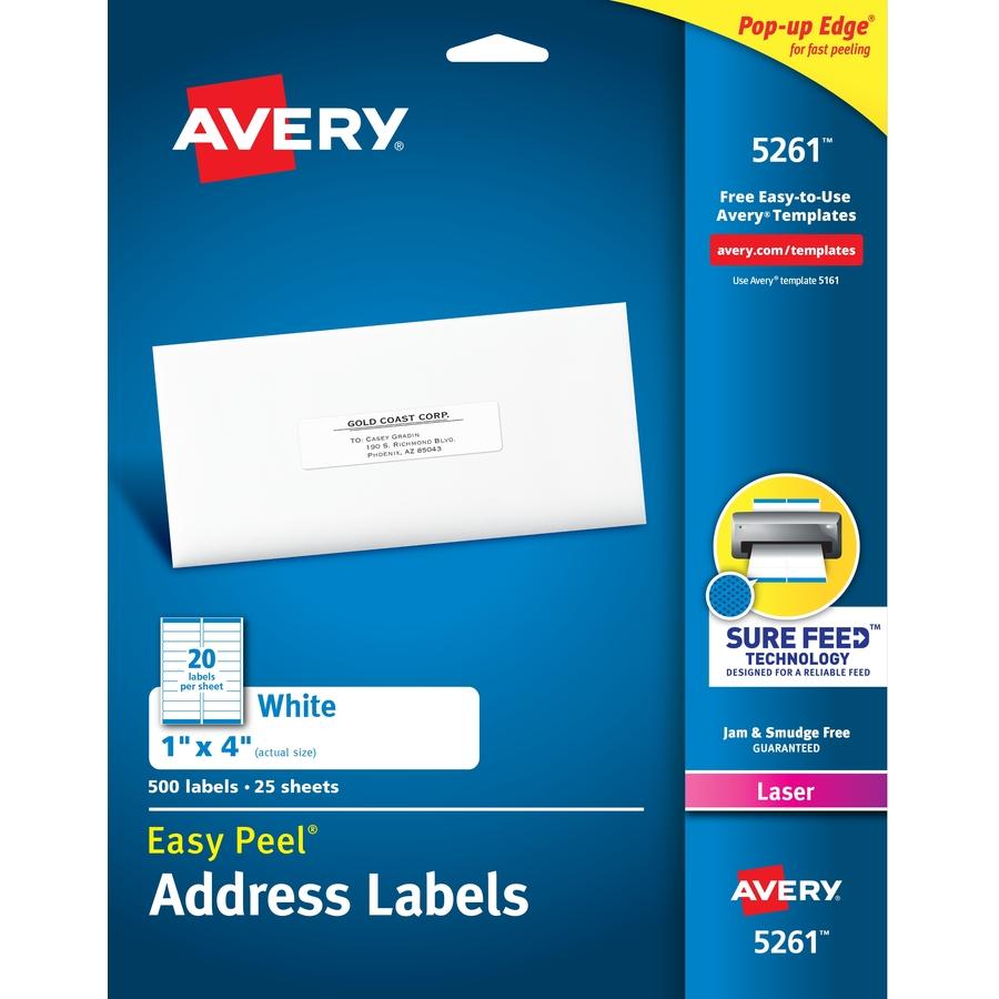 Etiqueta de Dirección Avery Easy Peel - Reparto