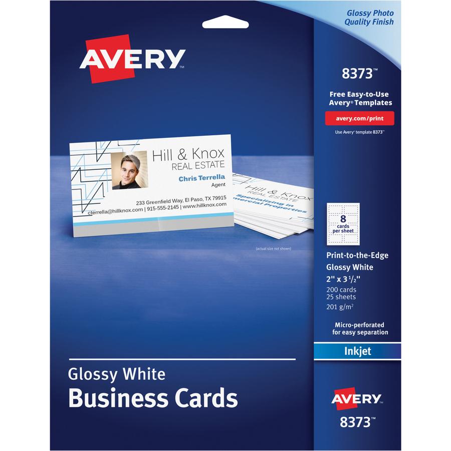 Avery 8373, Avery Photo Quality Inkjet Business Card, AVE8373, AVE ...