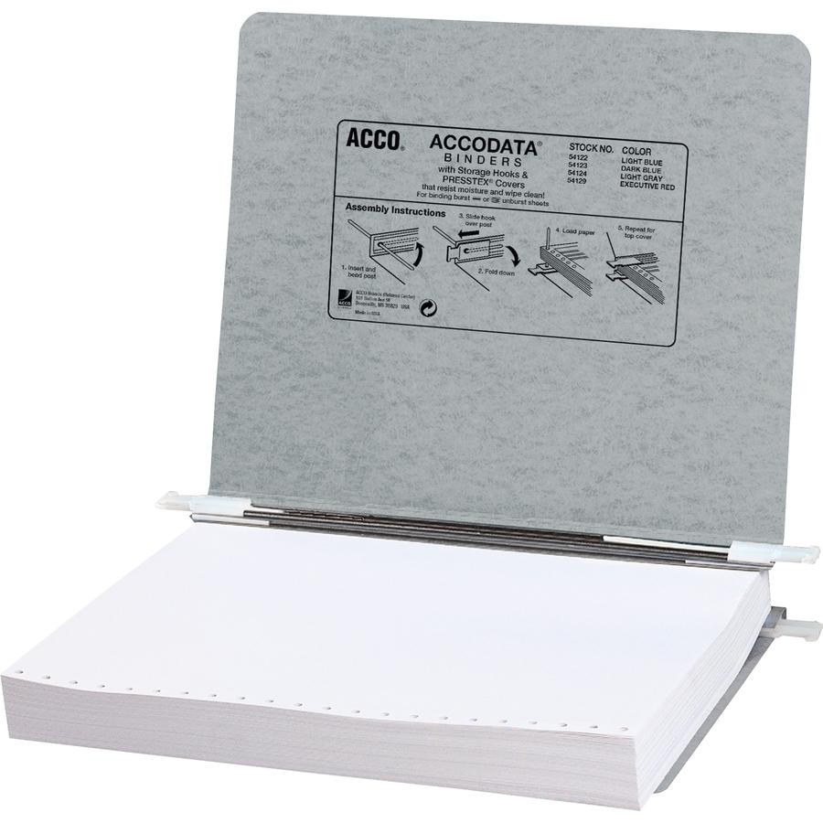 acco 11 x 8 12 presstex data binders wstg hooks mac papers inc