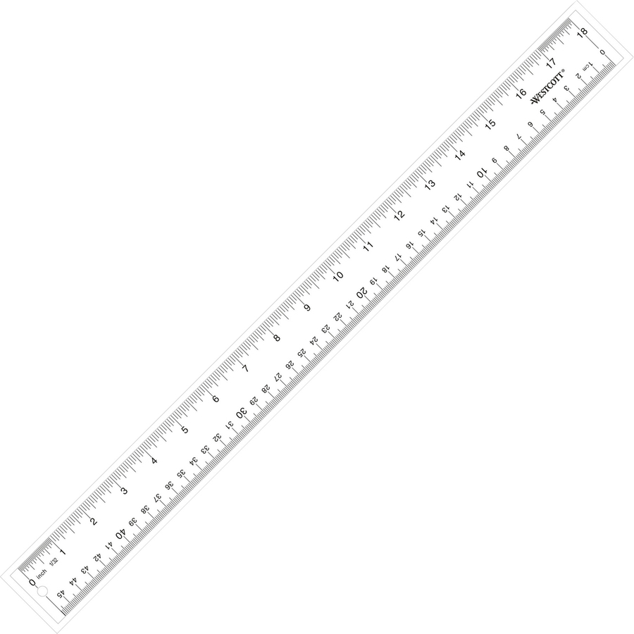 Westcott see through ruler acm10564 for Millimeters to meters