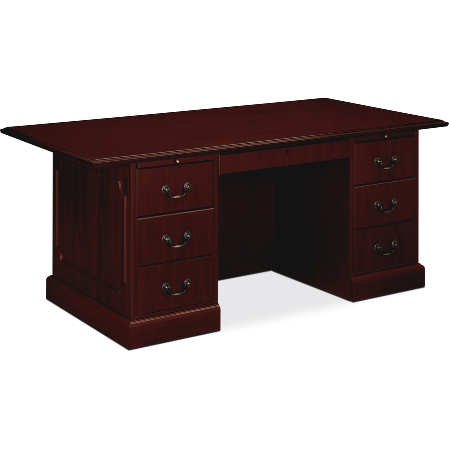 HON Series Double Pedestal Desk Servmart - Hon computer table
