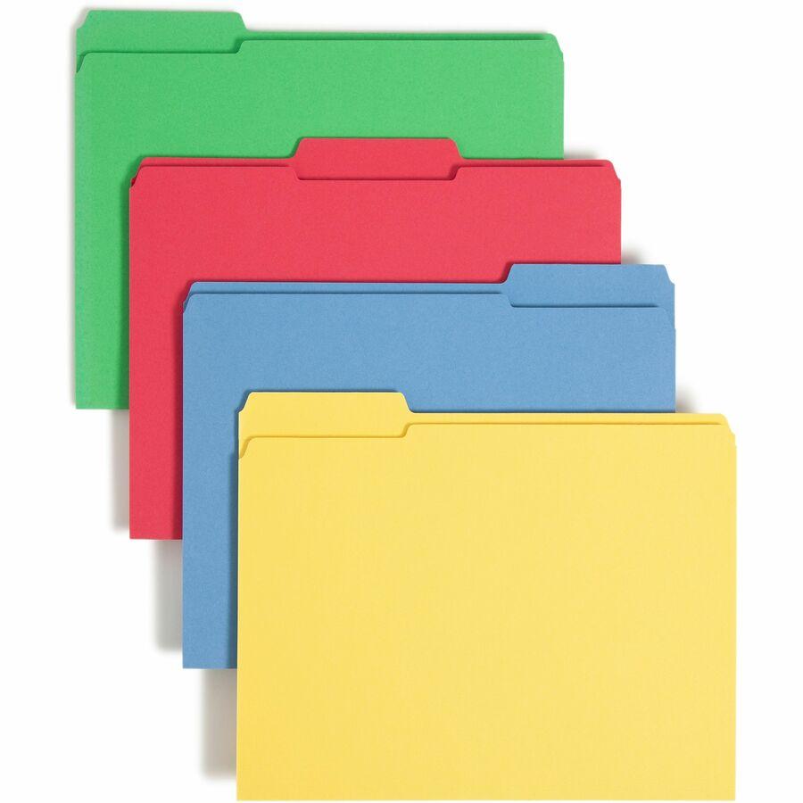 Smead File Folder Reinforced 1 3 Cut Tab Letter Size