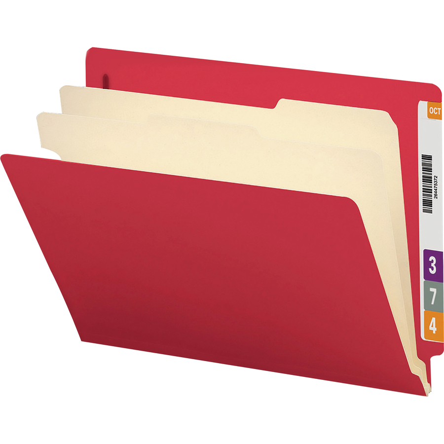 smead end tab classification file folder 2 divider 2 expansion