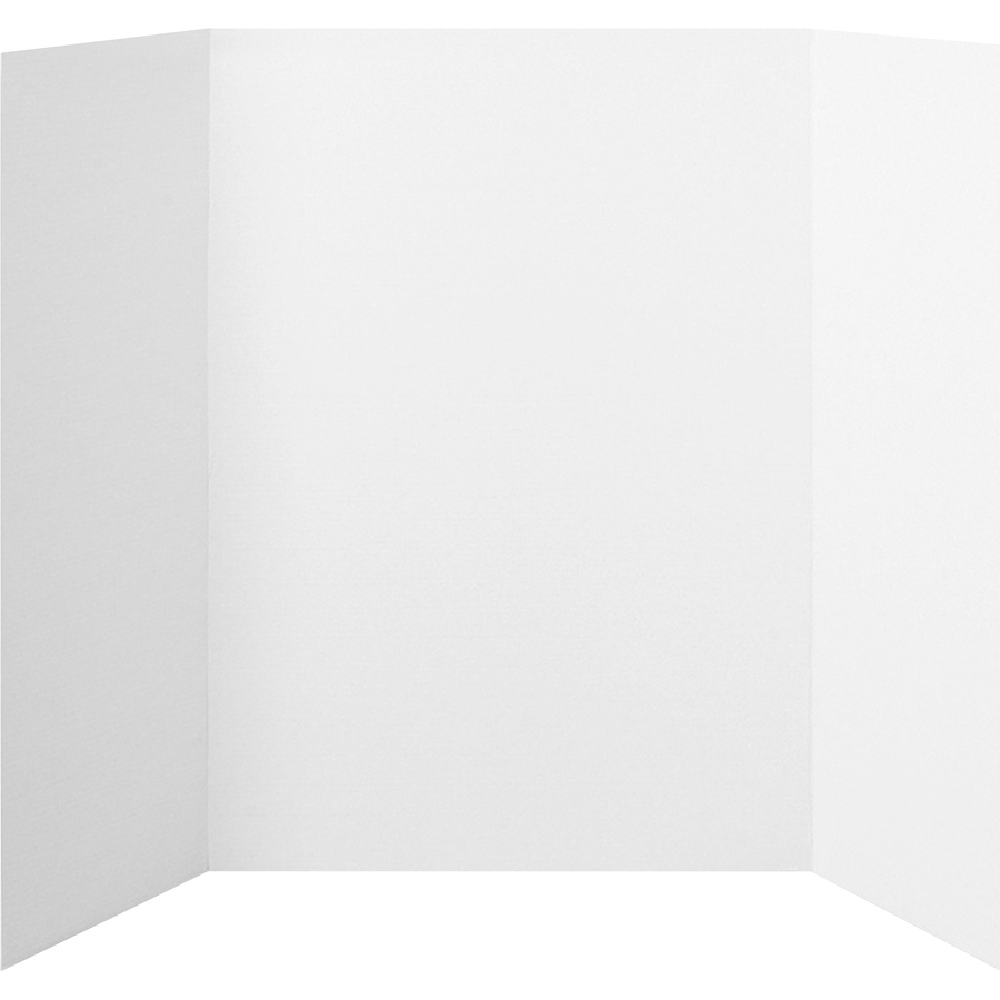 Elmers Products, Inc Elmers Tri-fold Project Display Board - 48 Height X 36 Width - White Surface - 1 Each