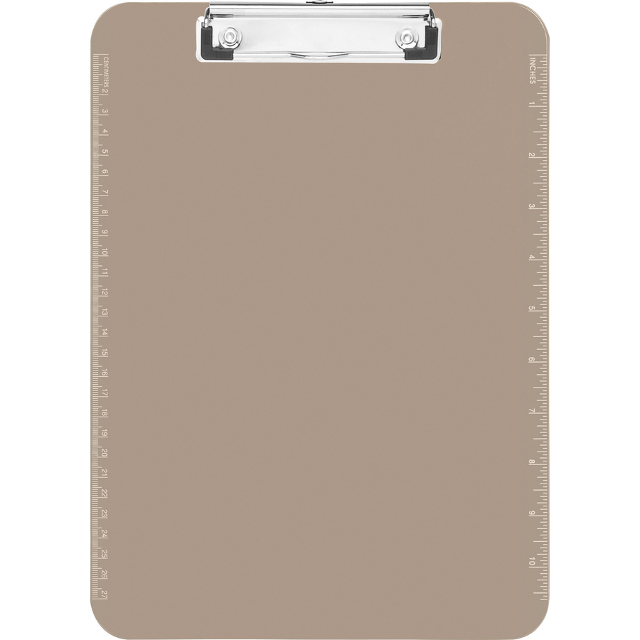 sparco transparent plastic clipboard with flat clip servmart