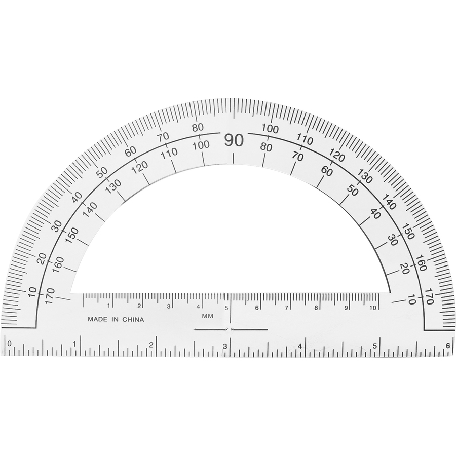Sparco Products Sparco Professional Protractor - Plastic - Clear