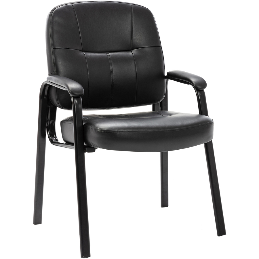 lorell chadwick executive leather guest chair leather black seat