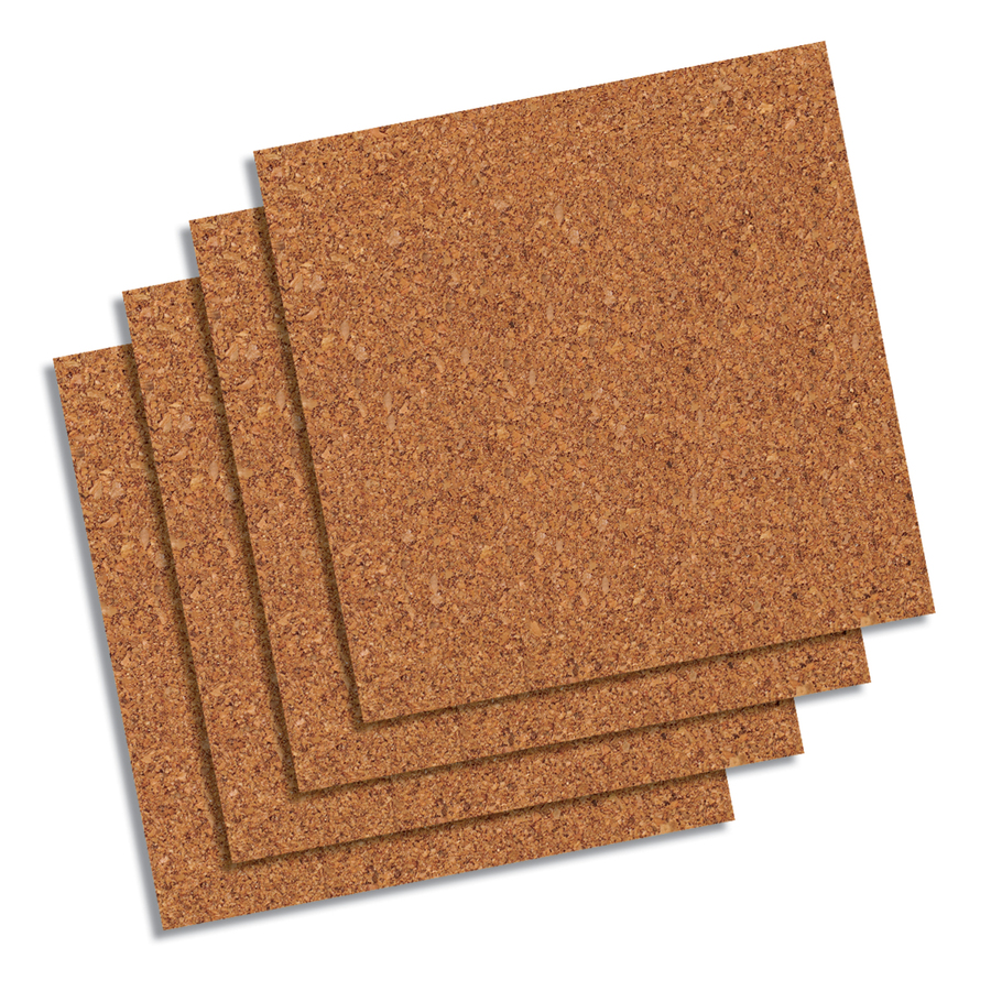 Quartet Natural Cork Tiles 12 X 12 Frameless Modular