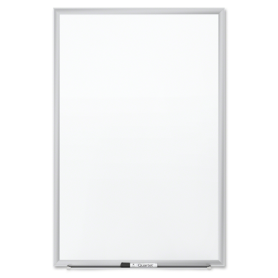 Acco Brands Corporation Quartet® Premium Duramax® Porcelain Magnetic Whiteboard, 3 X 2, Silver Aluminum Frame - 36 (3 Ft) Width X 24 (2 Ft) Height - White Porcelain Surface - Silver Aluminum Frame - Rectangle - Horizontal/vertical - 1 / Each - Taa