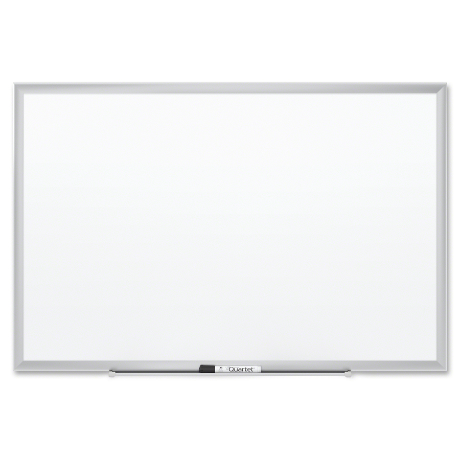 Acco Brands Corporation Quartet® Premium Duramax Porcelain Magnetic Whiteboard, 6 X 4, Silver Aluminum Frame - 72 (6 Ft) Width X 48 (4 Ft) Height - White Porcelain Surface - Silver Aluminum Frame - Rectangle - Horizontal/vertical - 1 / Each - Taa Comp