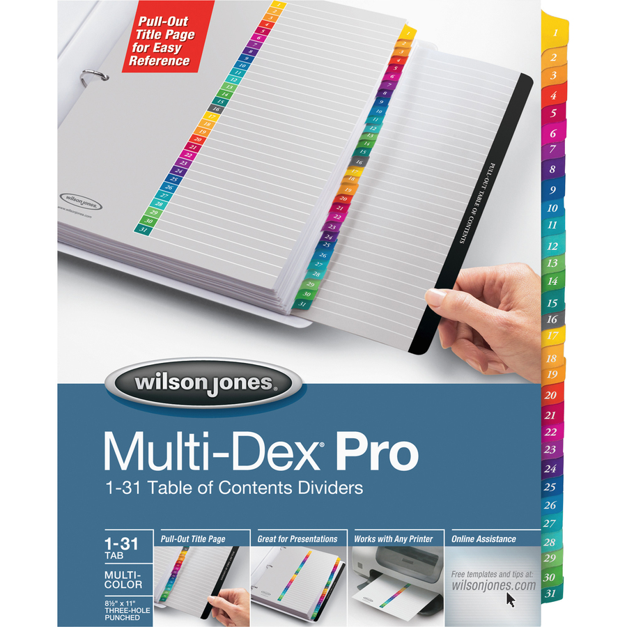 Divisores de Etiquetas Wilson Jones MultiDex - Reparto
