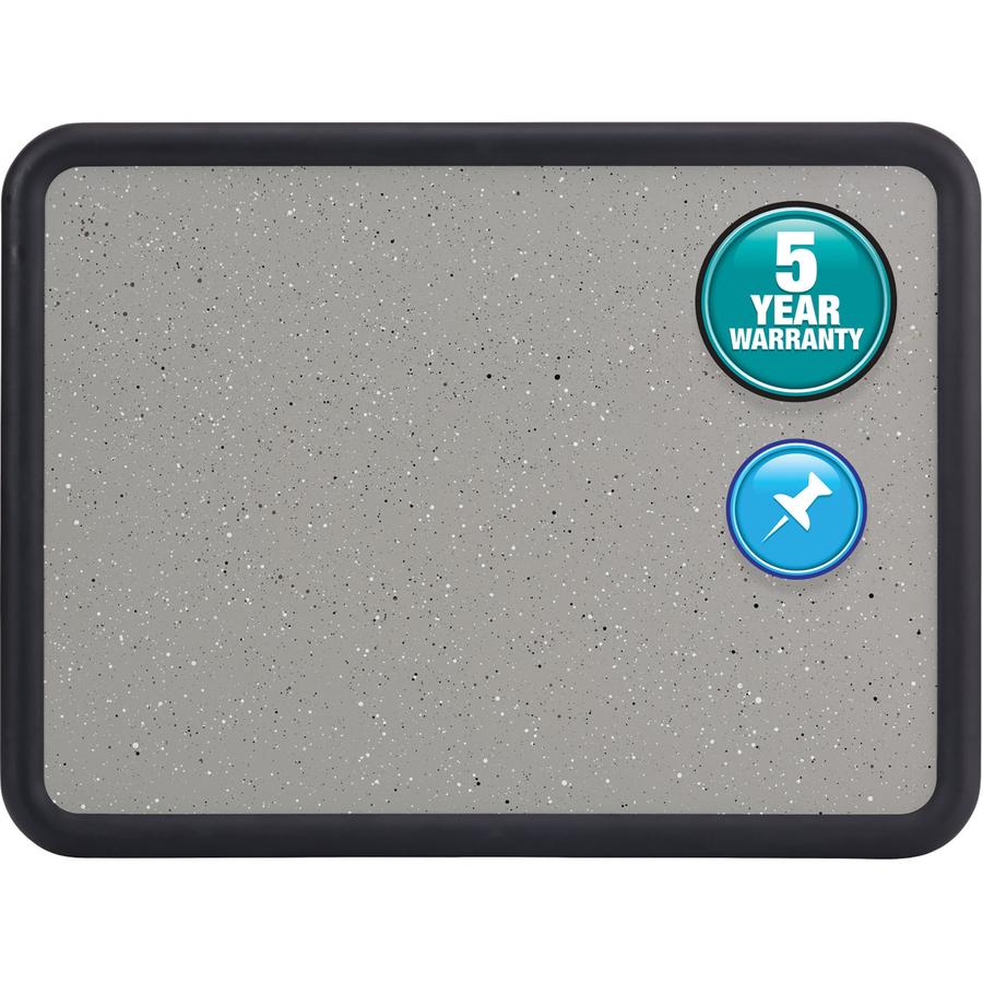 Acco Brands Corporation Quartet® Contour® Granite Bulletin Board, 4 X 3, Black Frame - 36 Height X 48 Width - Faux Granite Surface - Black Frame - 1 Each